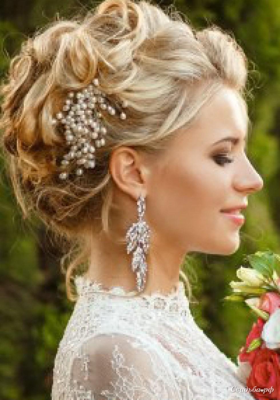 Необычная прическа для невесты